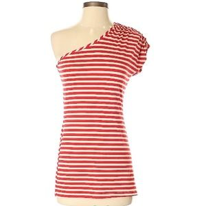 Urban Outfitter asymmetrical striped top-S